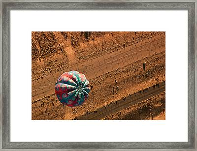 Cracked Highway Framed Print