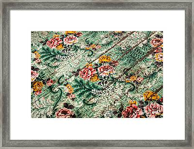 Cracked Linoleum Framed Print by Sue Smith
