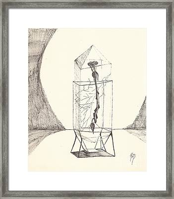Cracked... Sketch Framed Print