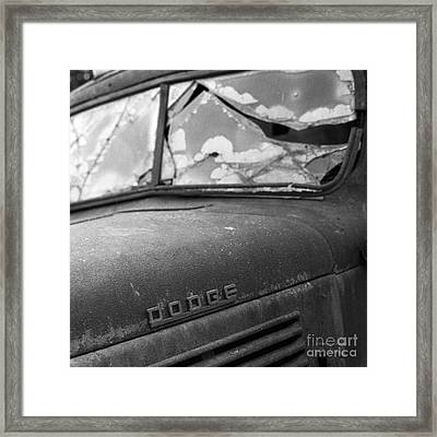 Cracked Square Format Framed Print by Gordon Wood
