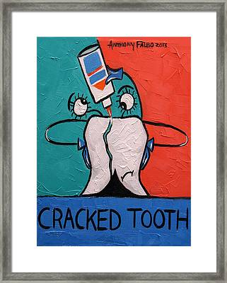 Cracked Tooth Framed Print by Anthony Falbo
