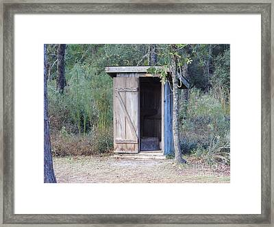 Cracker Out House Framed Print