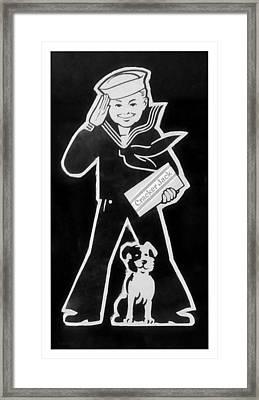 Crackerjack Black White Framed Print by Rob Hans