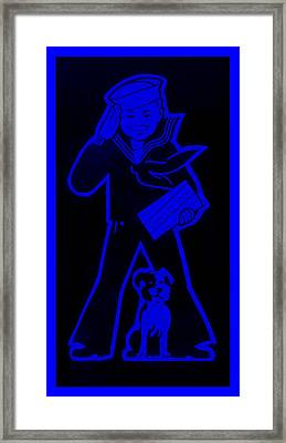 Crackerjack Blue Framed Print by Rob Hans