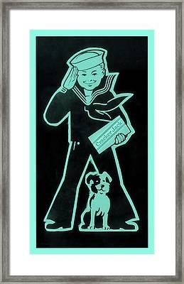 Crackerjack Greenishblue Framed Print by Rob Hans