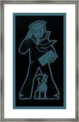 Crackerjack Greyblue Framed Print by Rob Hans