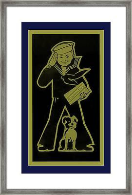 Crackerjack Gold And Blue Framed Print by Rob Hans