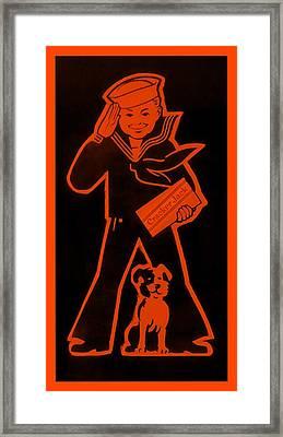 Crackerjack Orange Framed Print by Rob Hans