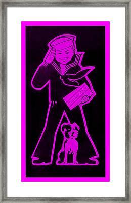 Crackerjack Purple Framed Print by Rob Hans