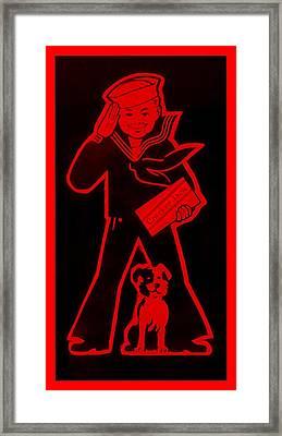 Crackerjack Red Framed Print by Rob Hans