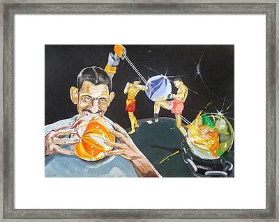 Cracking Marvels Cascando Canicas Framed Print by Lazaro Hurtado