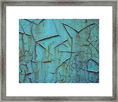 Crackled Rust Framed Print