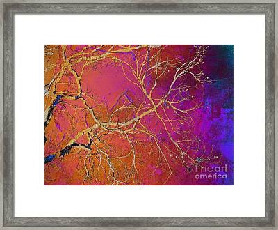 Crackling Branches Framed Print