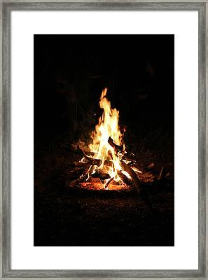 Crackling Bush Campfire Framed Print by StaJa Photography