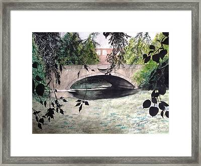 Framed Print featuring the painting Craddock Bridge Down Under by June Holwell