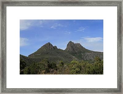 Cradle Mountain Tasmania All Profits Go To Hospice Of The Calumet Area Framed Print