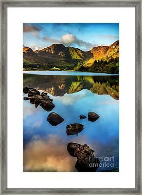 Crafnant Rocks V2 Framed Print by Adrian Evans