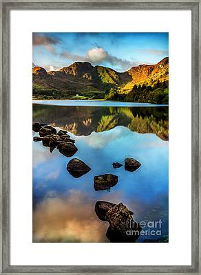 Crafnant Rocks V2 Framed Print