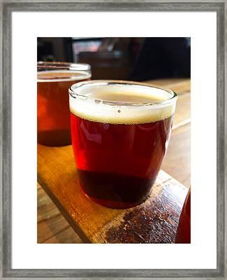 Craft Beer Sampler Framed Print by Joshua Rainey