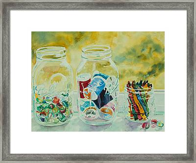 Craft Room Pickles Framed Print by Jenny Armitage