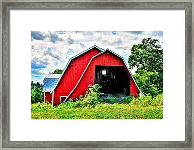 Craftsbury Barn Framed Print