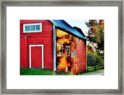 Craftsbury Sunset Framed Print