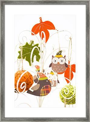Crafty Christmas Framed Print by Anne Gilbert