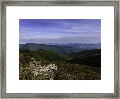 Craggy Mountains Framed Print