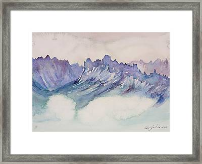 Craggy Peaks Framed Print by Carolyn Doe
