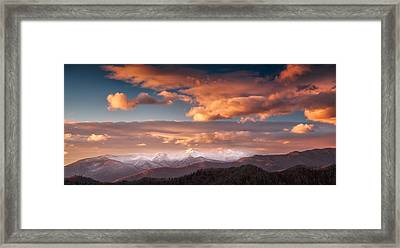 Framed Print featuring the photograph Craggy Snow by Joye Ardyn Durham