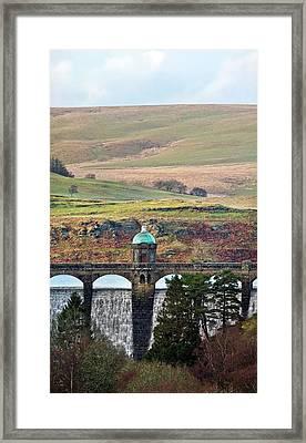 Craig Goch Dam Framed Print by Linda Wright