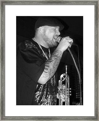 Craig Sorrells At The Brown Street Cafe Framed Print by Cleaster Cotton