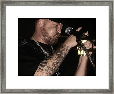 Craig Sorrells On Trumpet At Brown Street Framed Print by Cleaster Cotton