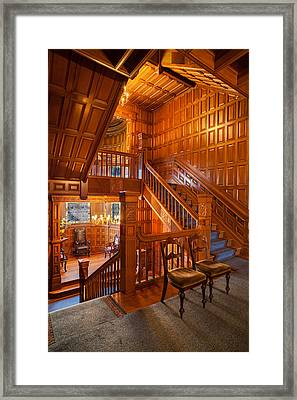Craigdarroch Castle Stairwell Framed Print by Mike Reid