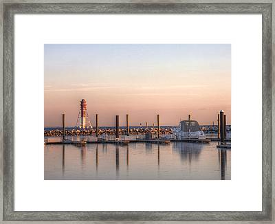 Craighill Channel Rear Lower Range Lighthouse Framed Print by JC Findley