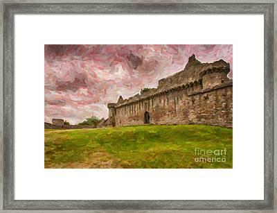 Craigmillar Castle Digital Painting Framed Print by Antony McAulay