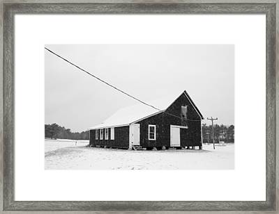 Framed Print featuring the photograph Cranberry Bog Barn by Amazing Jules