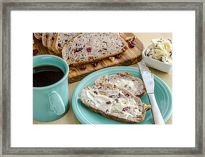 Cranberry Walnut Bread Framed Print by Teri Virbickis