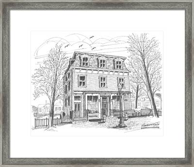 Cranberry's Cafe Circa 1884 Framed Print by Richard Wambach