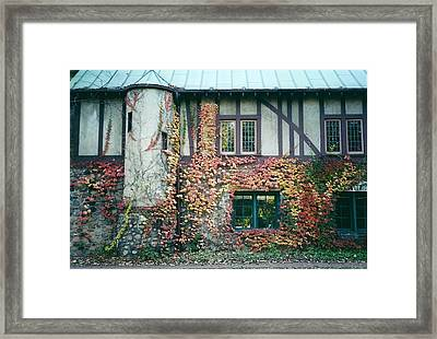 Cranbrook In The Fall Framed Print by Cynthia Hilliard