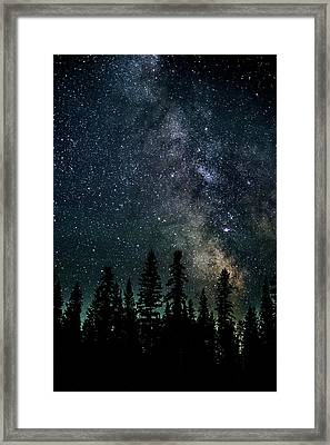 Framed Print featuring the photograph Cranbrook Milkyway by Rob Tullis