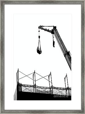 Crane And Construction Site Framed Print