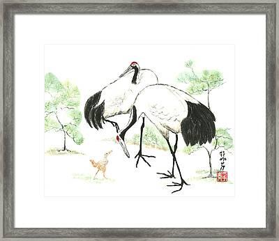Crane Family Framed Print