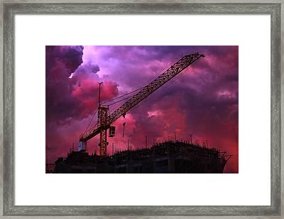 Crane I Framed Print by Felipe Djanikian