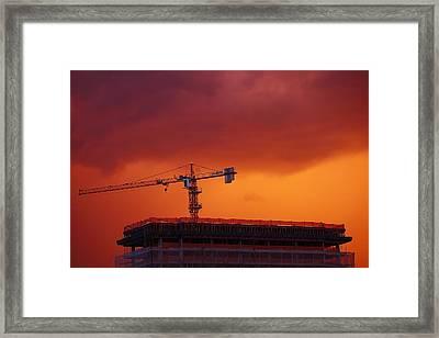 Crane II Framed Print by Felipe Djanikian