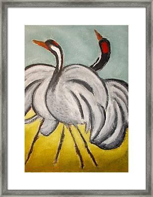 Crane Framed Print by Zeke Nord