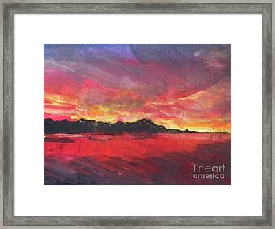 Cranes Beach Sunset Framed Print