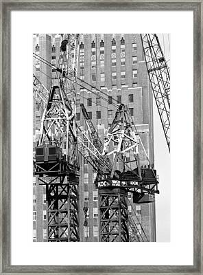 Cranes Ready For Action Framed Print
