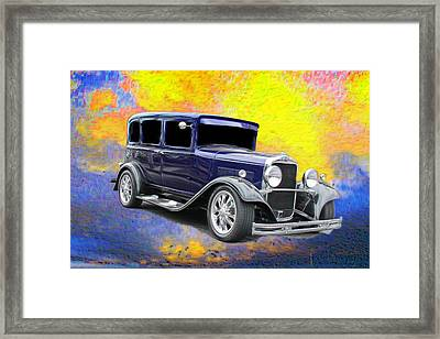 Old Car Framed Print featuring the photograph Crank It  by Aaron Berg