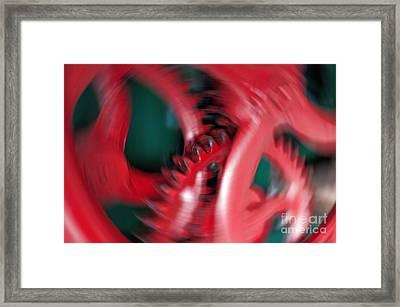 Cranking Framed Print by Gwyn Newcombe